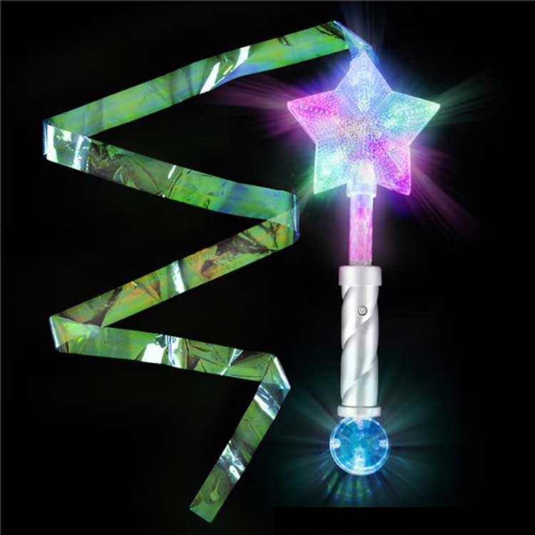 fun star wand with streamer - Gulf Coast Beads