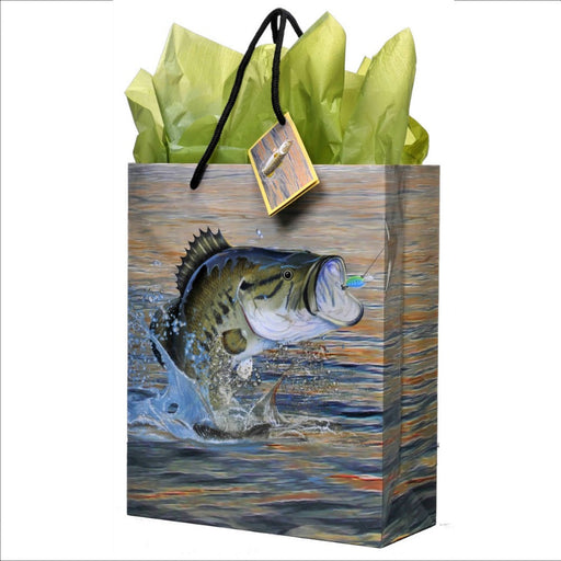Gift Bag, Gone Fishin' Classic 1Pc, Decorations-GulfCoastBeads.com