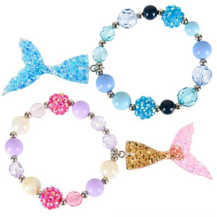 mermaid tail braclets with matching beads at Gulf Coast Beads
