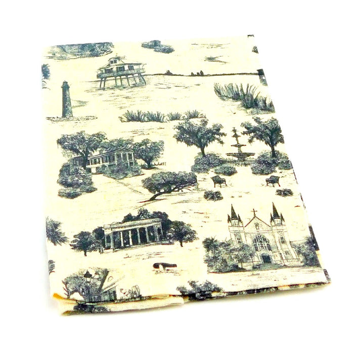 Hand Towel, Mobile Toile Black 1 piece, Artist Showcase-GulfCoastBeads.com