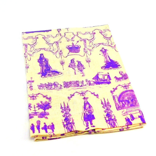 Hand Towel, Mardi Gras Toile Purple 1 piece, Artist Showcase-GulfCoastBeads.com
