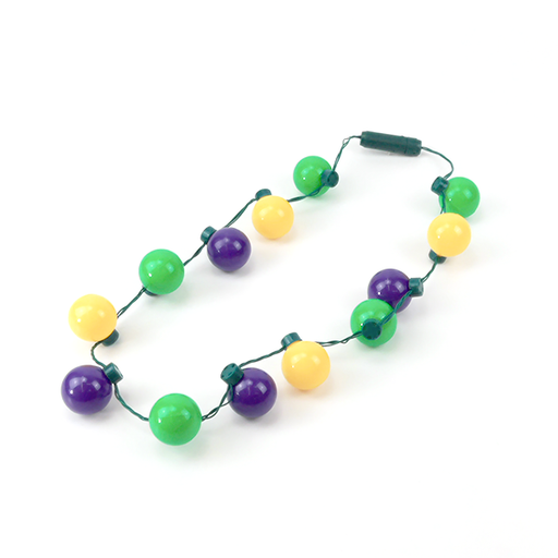 Best Place To Buy Necklace, Light Up Flashing Purple, Green, Gold Round Shaped Bulbs Online - Gulf Coast Beads