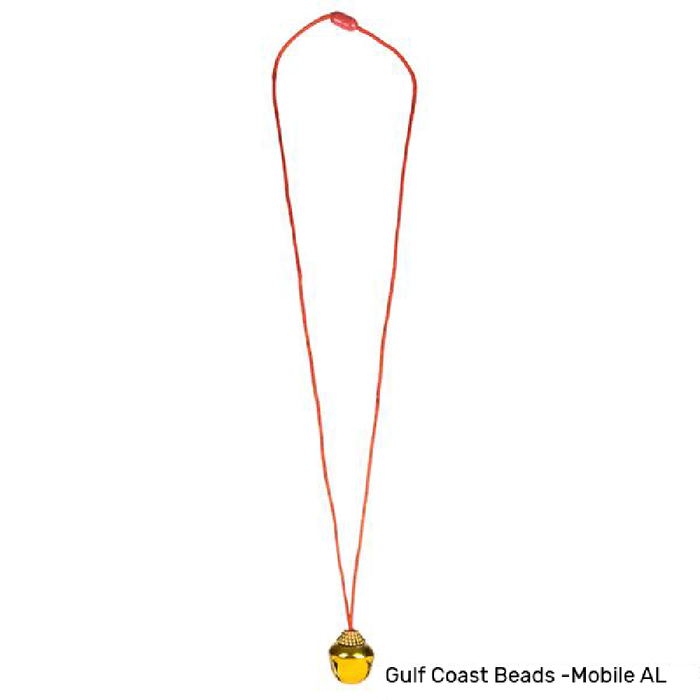 Best Place To Buy Necklace, Gold Jingle Bell Online - Gulf Coast Beads