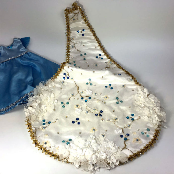 Handsewn train and gown for mardi gras dolls - Gulf Coast Bead