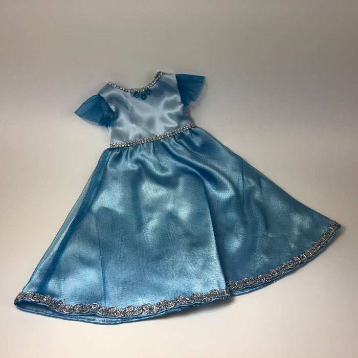 blue ball gown for 18inch doll - Gulf Coast Beads