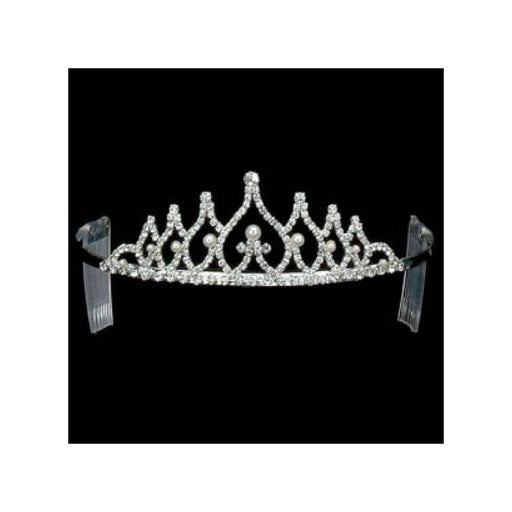 pageant silver and rhinestone tiara from Gulf Coast Beads