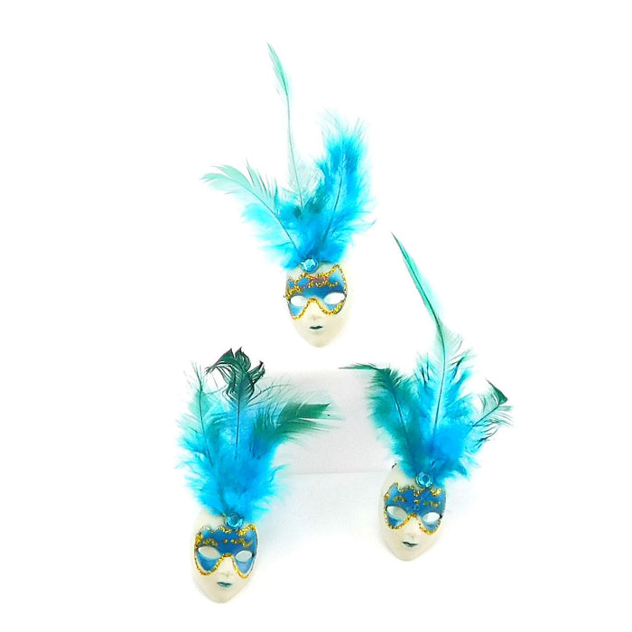 Mask Pin, Feather 2in 1Dz/Bag, Decorations-GulfCoastBeads.com