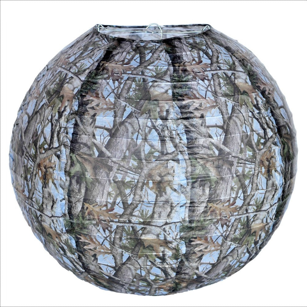 Lantern, Blue Camo 1pk, Decorations-GulfCoastBeads.com
