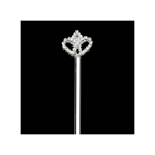 Childrens silver scepter with rhinestones - Gulf Coast Beads