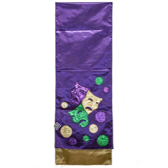 Best Place To Buy Table Runner, Mardi Gras Comedy Tragedy 72x13in Online - Gulf Coast Beads