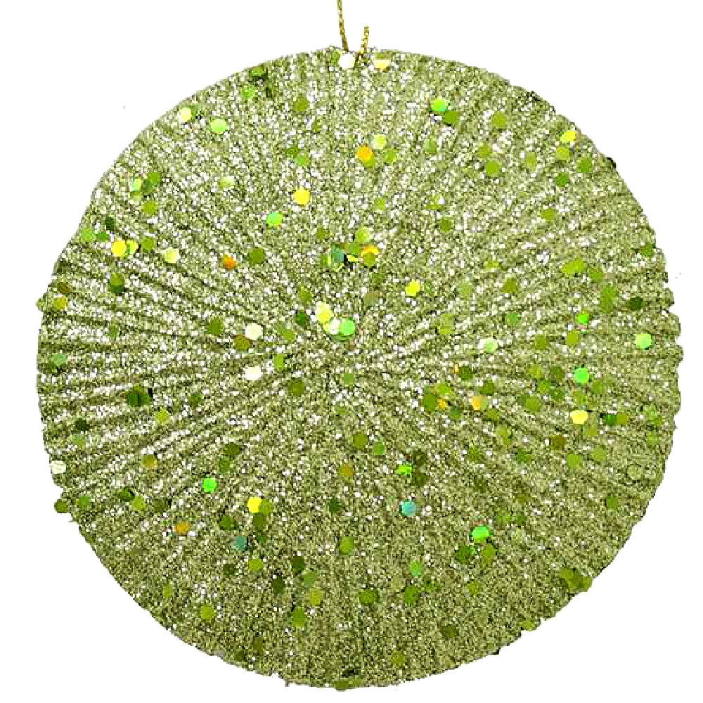 Best Place To Buy Ornament, 110mm Glittered Flat Ball Online - Gulf Coast Beads