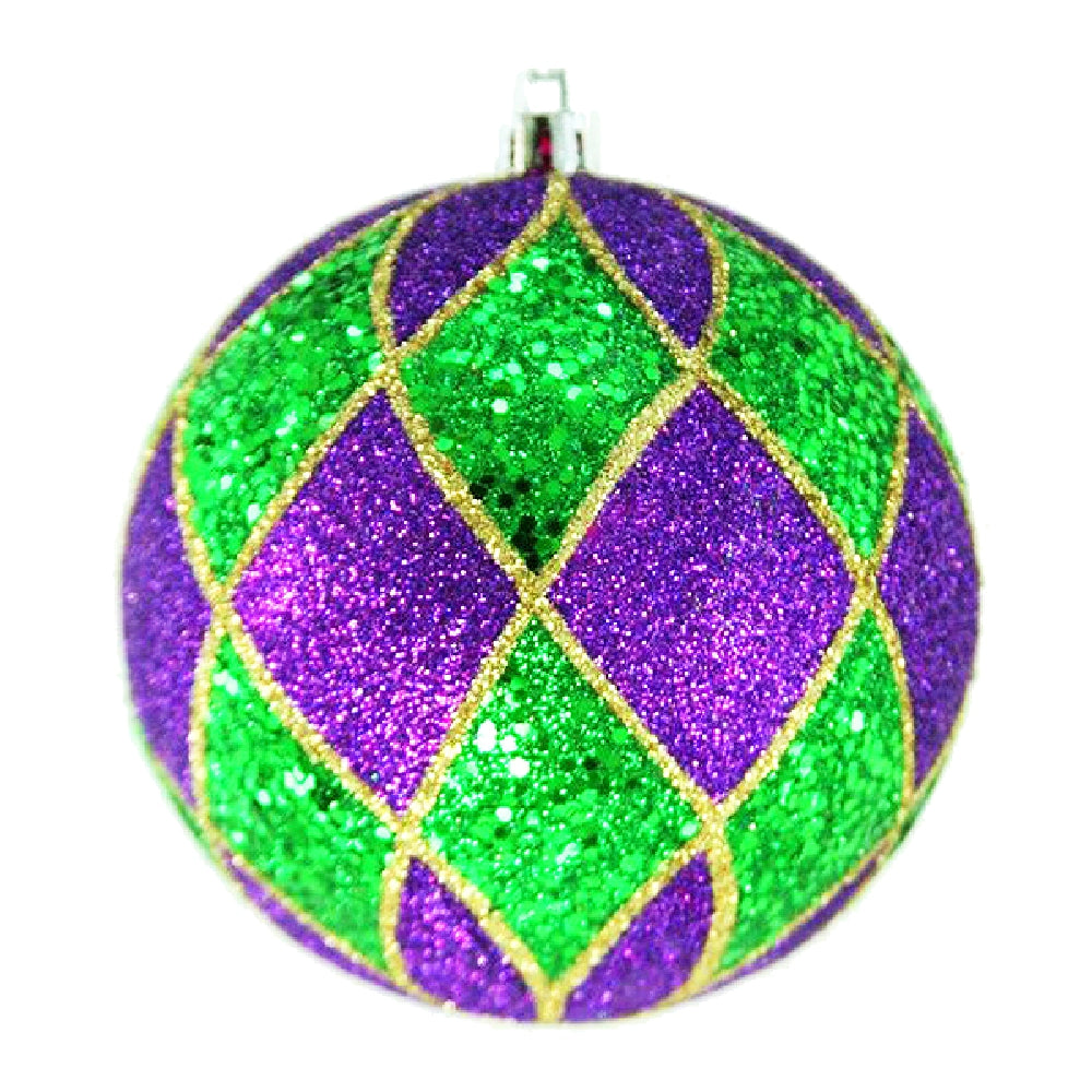Best Place To Buy Ornament, 100mm Harlequin Mardi Gras 4Pcs/Box Online - Gulf Coast Beads
