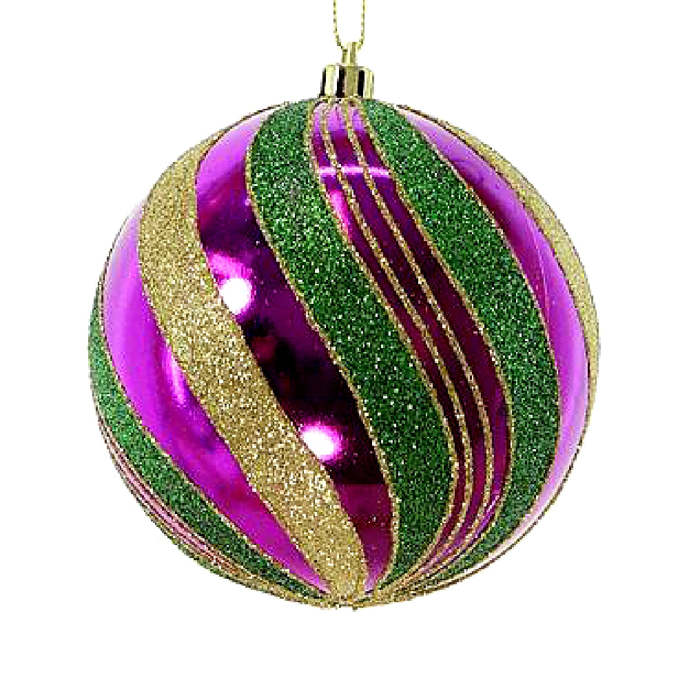Best Place To Buy Ornament, 100mm PGG Mardi Gras 4Pcs/Box Online - Gulf Coast Beads