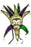 Mask, Mardi Gras Jester Purple Green Gold, Single, Decorations-GulfCoastBeads.com