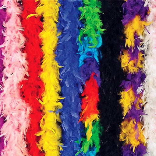 Boa, Random Colors Feather 6 ft, Apparel-GulfCoastBeads.com