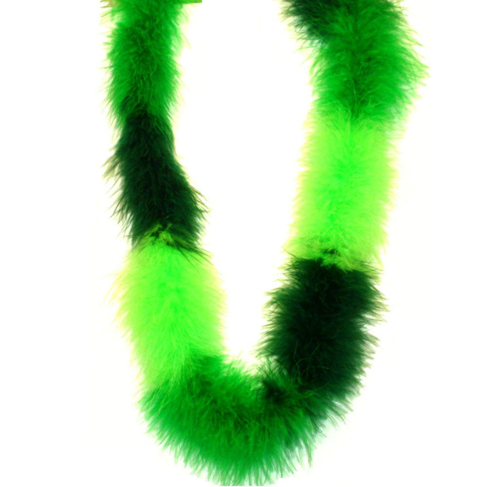 Boa, 36in Fluffy Green  Feather 1 piece, Apparel-GulfCoastBeads.com