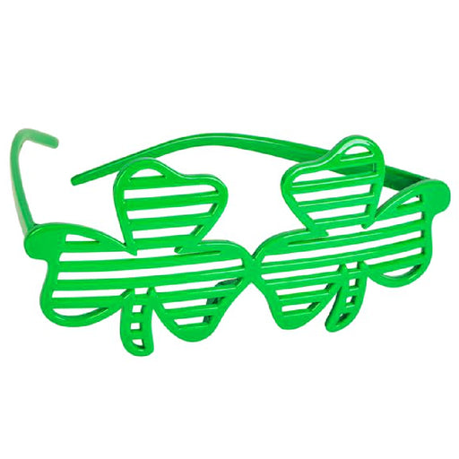 Glasses, Shamrock Slotted Eye-wear 1 piece, Novelty-GulfCoastBeads.com