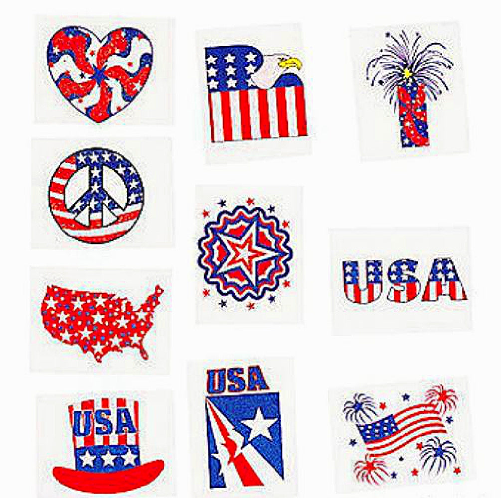Best Place To Buy Tattoo Sleeve, Patriotic Glitter Online - Gulf Coast Beads