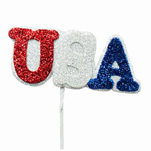 Best Place To Buy USA Pick, Glittered Red, White, Blue Online - Gulf Coast Beads