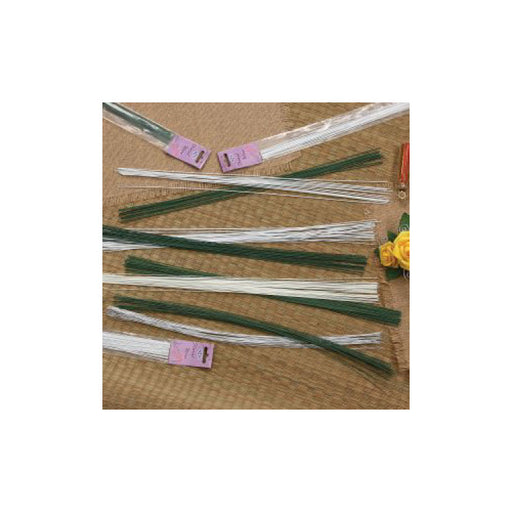 Green Craft Taped Wire, 18in long, 20-Ga - 20Pcs/Pk