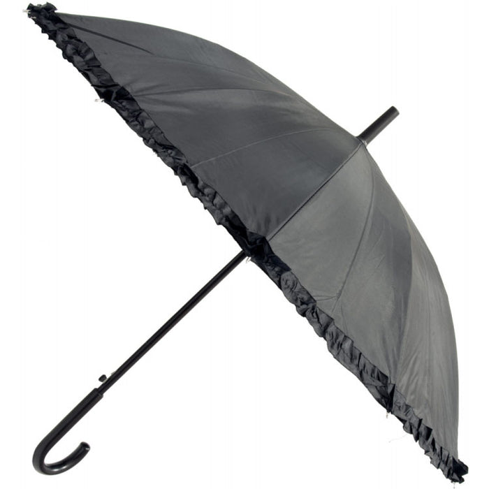 21in-black-frilly-edge-umbrella