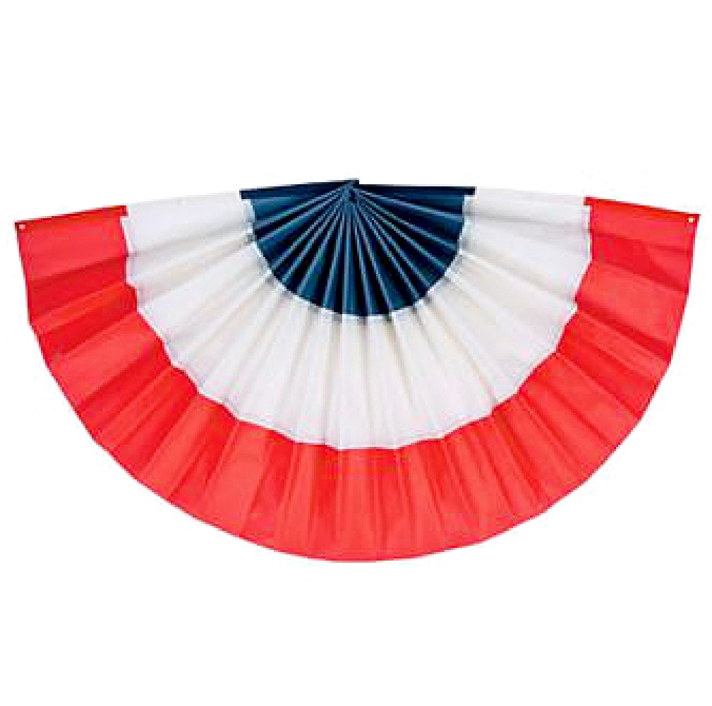 Bunting, Red, White, Blue Pleated, Decorations-GulfCoastBeads.com