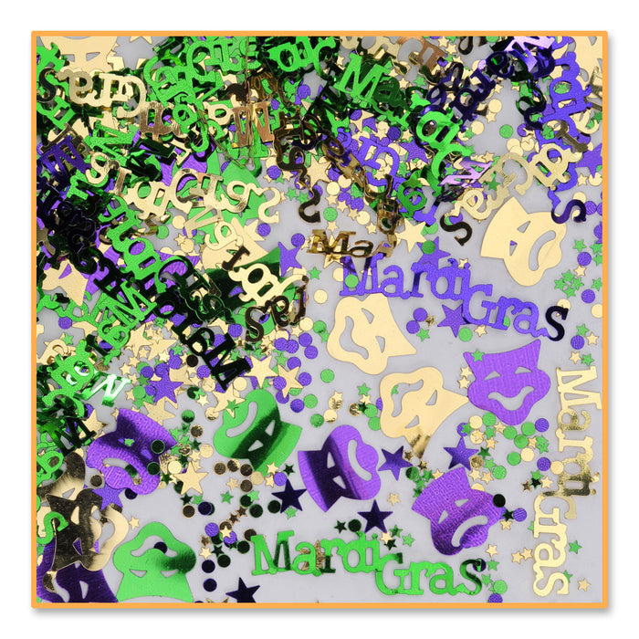 Confetti, Mardi Gras Fun, Decorations-GulfCoastBeads.com