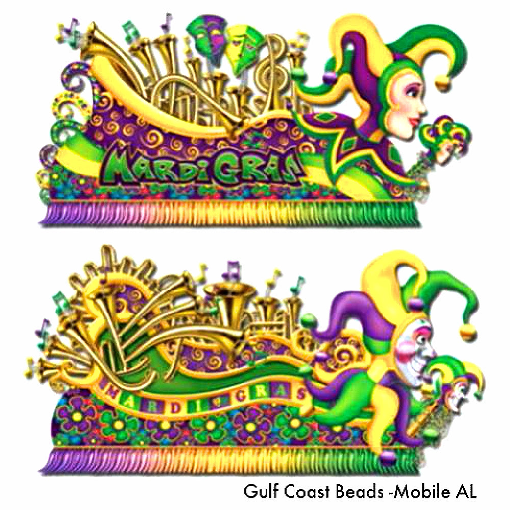 Cutout Decor, Mardi Gras Float Props 2 pieces, Decorations-GulfCoastBeads.com