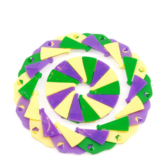 Disks, 9-inch Expanding Purple, Green, Gold, Novelty-GulfCoastBeads.com