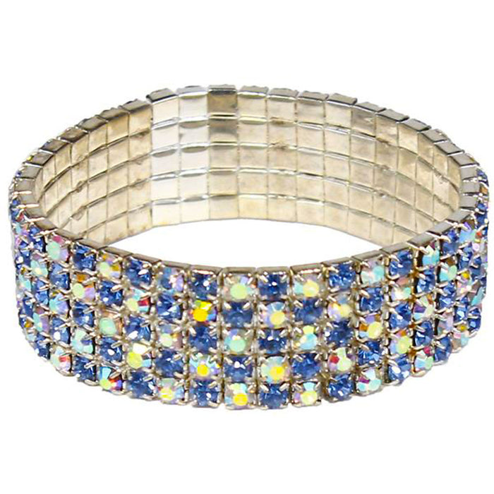 sapphire and iridescent costume bracelet for fun times.