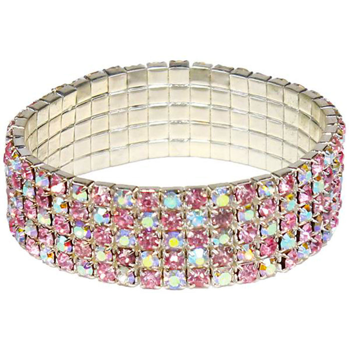 pink sapphire and iridescent costume bracelet for fun times.