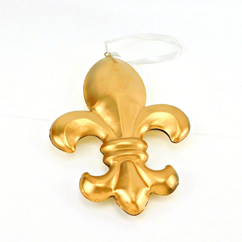 Best Place To Buy Ornament, Fleur De Lis Hanging Metal 9.5in 1 piece Online - Gulf Coast Beads