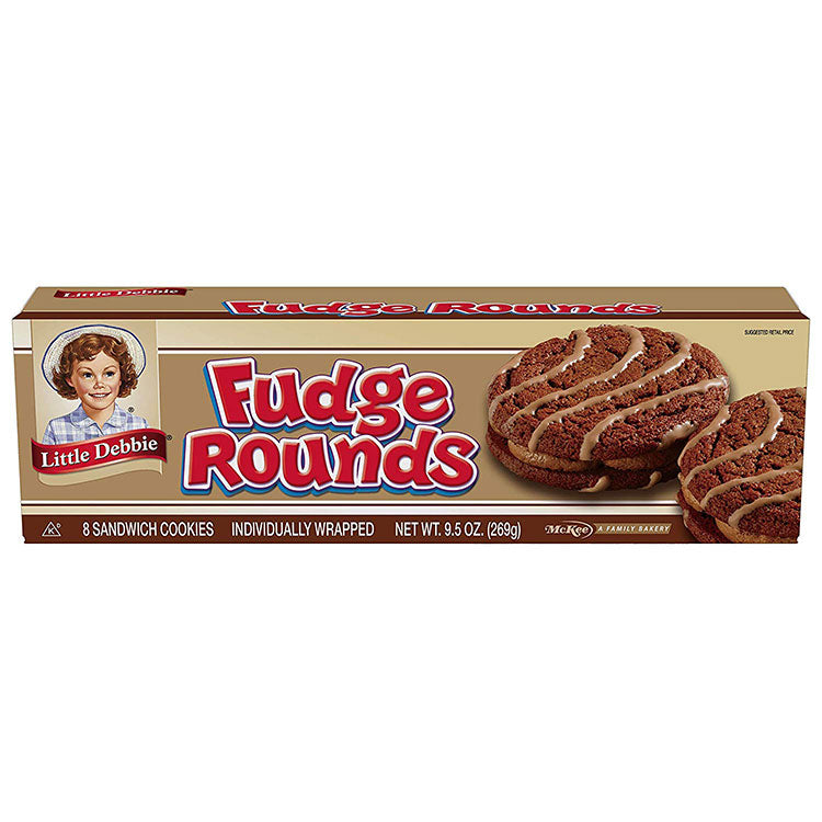 little debbie fudge rounds are great for mardi gras