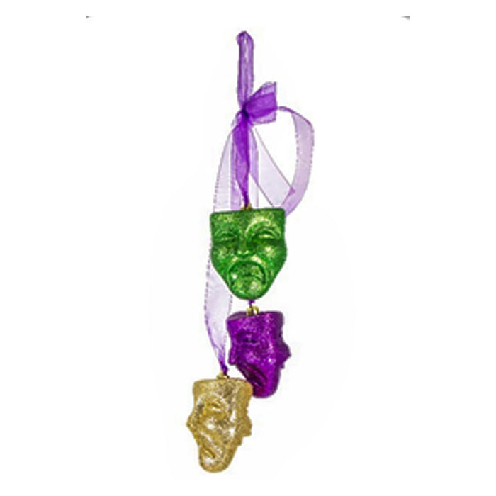 Best Place To Buy Masks, 3 Hanging Comedy-Tragedy with Ribbons Online - Gulf Coast Beads