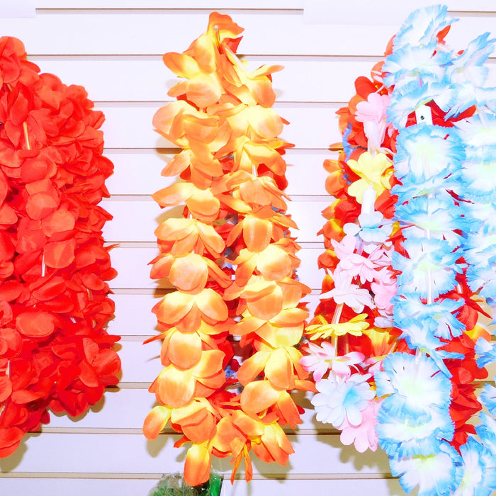 Leis, LED Light Up Hawaiian Asst Colors 1 piece, Apparel-GulfCoastBeads.com