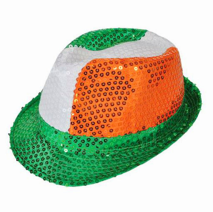 Fedora, Irish Sequin 1 piece, Apparel-GulfCoastBeads.com