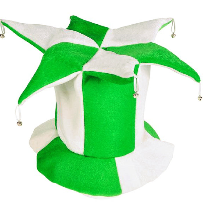 Jester Hat With Bells, 2-Tone 1 piece, Apparel-GulfCoastBeads.com