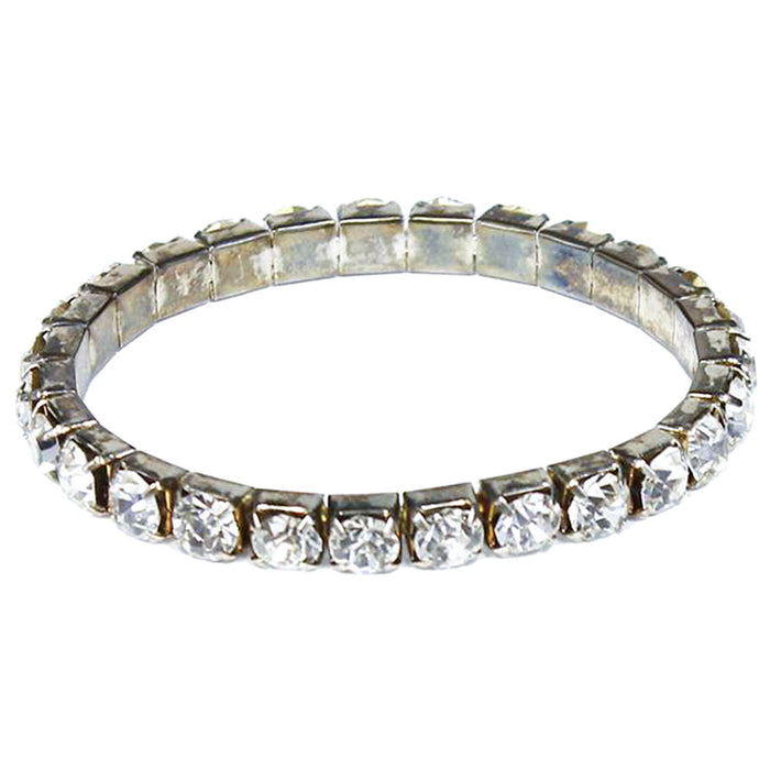 1 row large diamond rhinestone bracelet