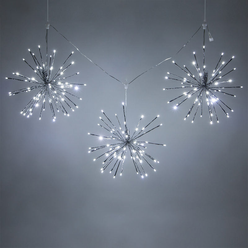 Lighted Branches, Cool White Starburst Twinkle LED, Decorations-GulfCoastBeads.com