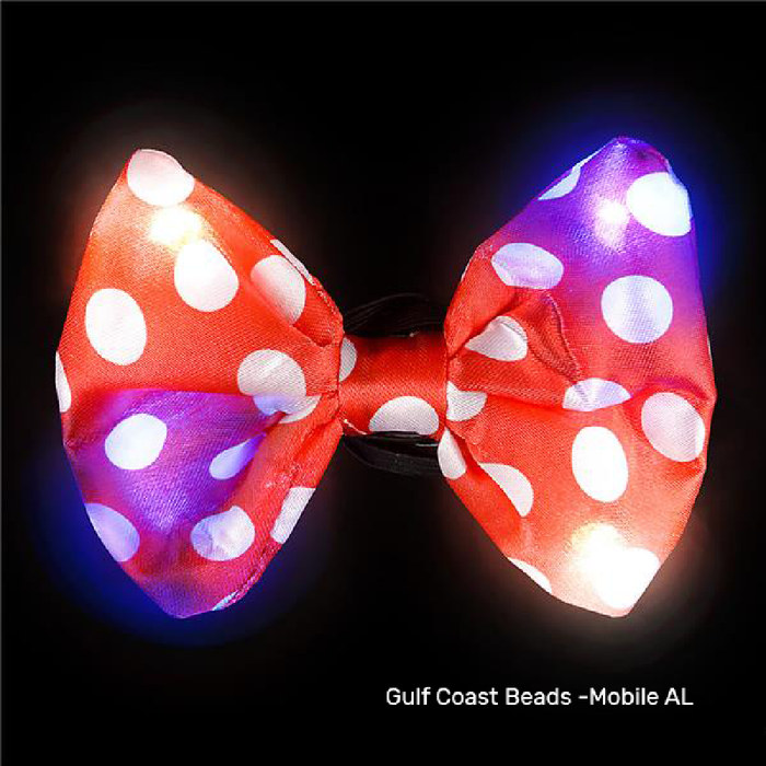 Bow Tie, Polka-Dot Flashing, Apparel-GulfCoastBeads.com