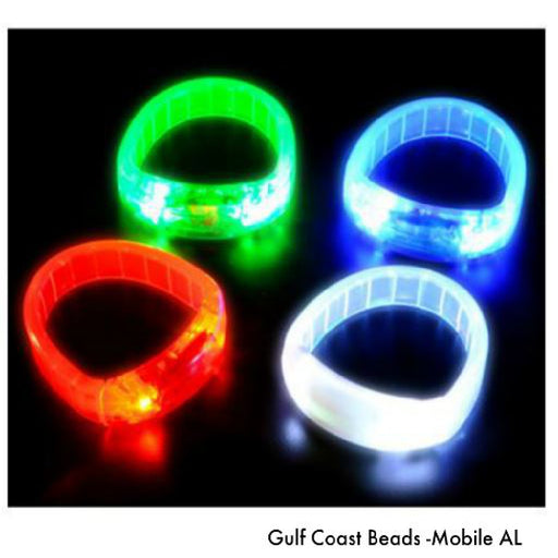 Bracelet, Wide Flashing Band 1 Piece, Novelty-GulfCoastBeads.com
