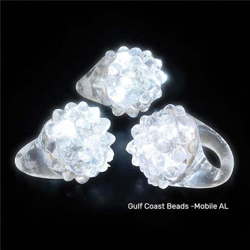 Best Place To Buy Ring, White Bumpy Light Up Online - Gulf Coast Beads