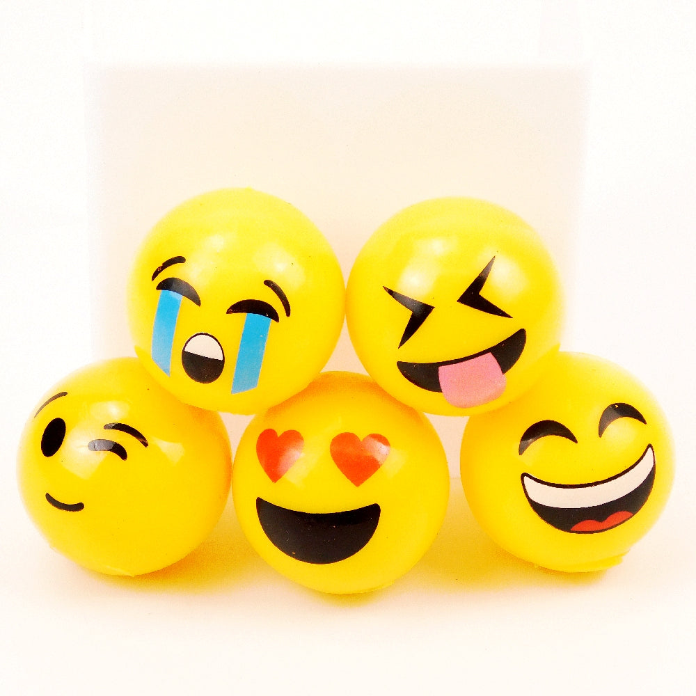 Ball, 55mm Lightup Emoji, in Assorted Color Faces, Novelty-GulfCoastBeads.com