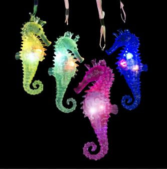 Best Place To Buy Necklace, Light Up Jelly Seahorse in Assorted Colors Online - Gulf Coast Beads