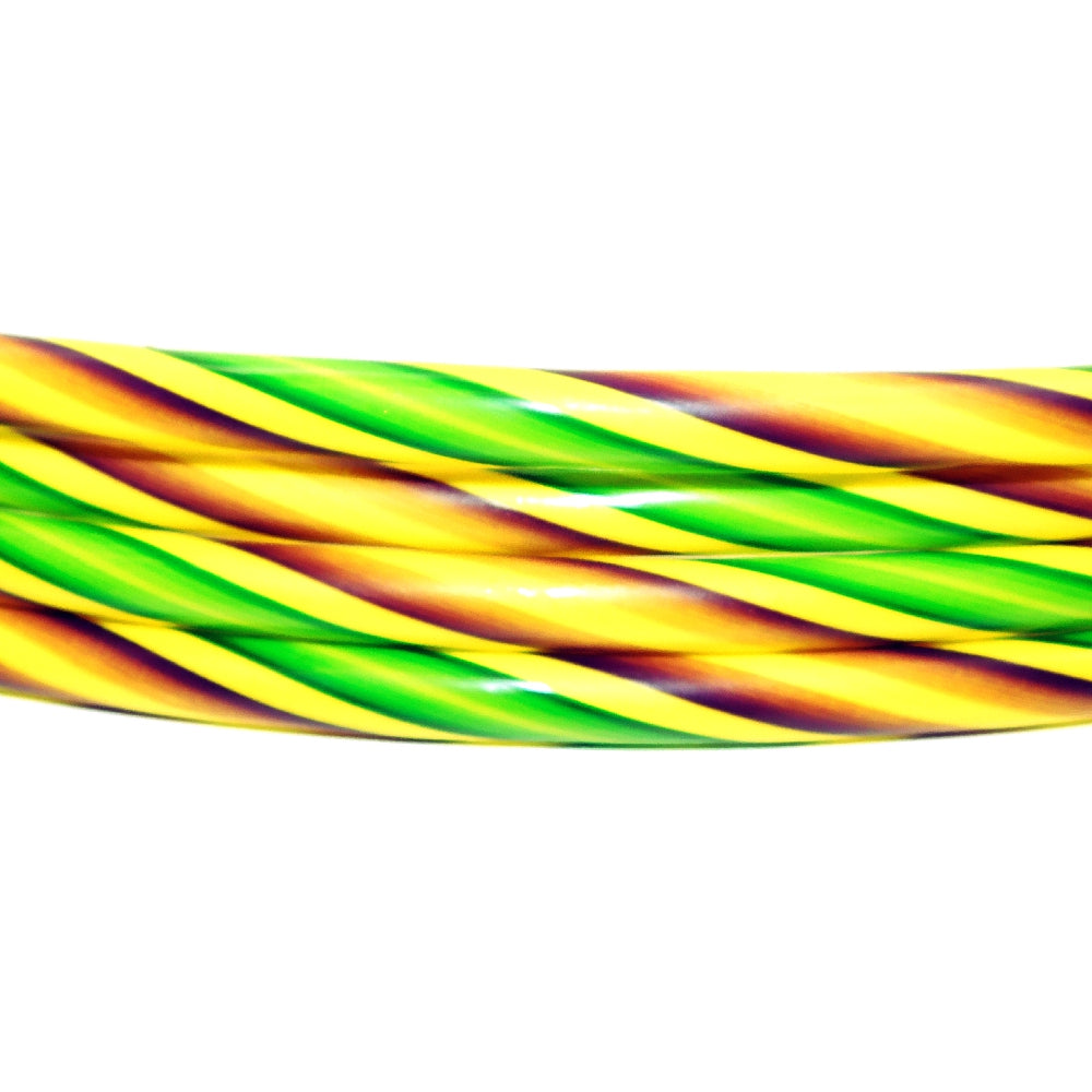 Hula Hoops, 26in Yellow w/ purple and green, Novelty-GulfCoastBeads.com