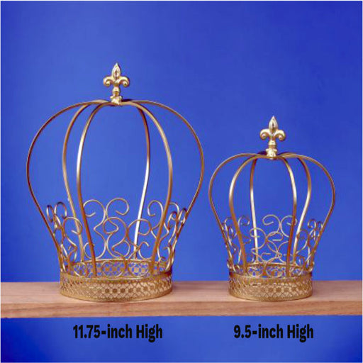 gold tone wire crown for majestic centerpieces - Gulf Coast Beads