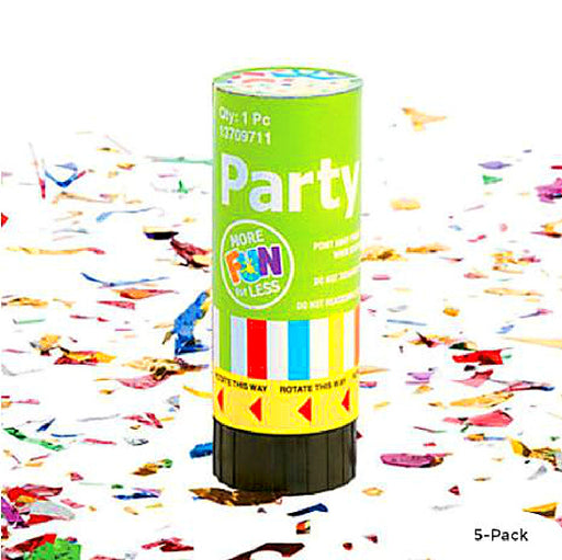 Best Place To Buy Party Poppers, Individual Cannon -5Pc/Bag Online - Gulf Coast Beads