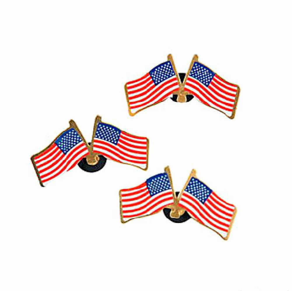 Best Place To Buy Pin, Double USA Flag Lapel Online - Gulf Coast Beads