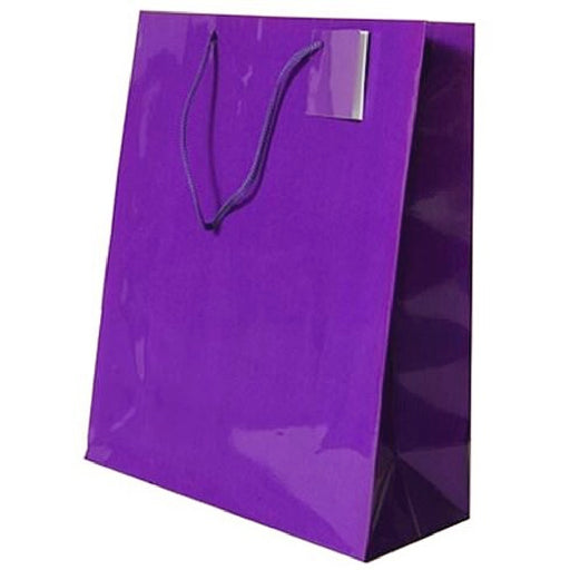 Gift Bag, High Gloss 8x4x10 1Pc, Decorations-GulfCoastBeads.com