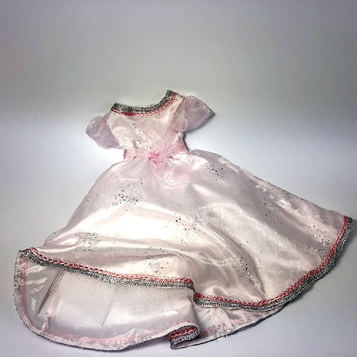 pale pink debutante ball gown for 18inch doll - Gulf Coast Beads